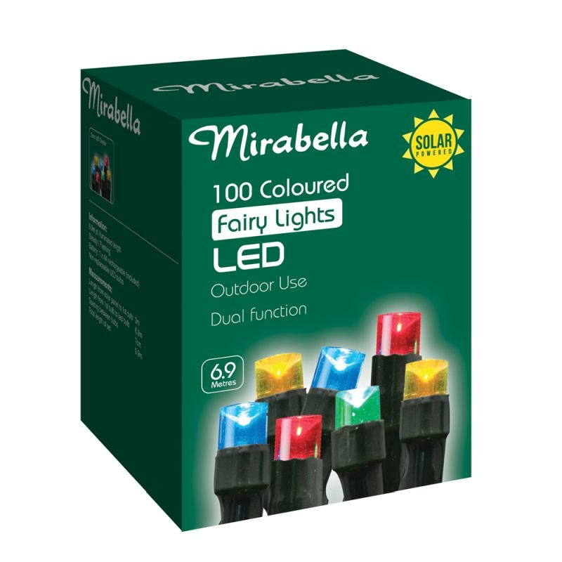 Fairy Light Led Solar Multi Colour 100Pce
