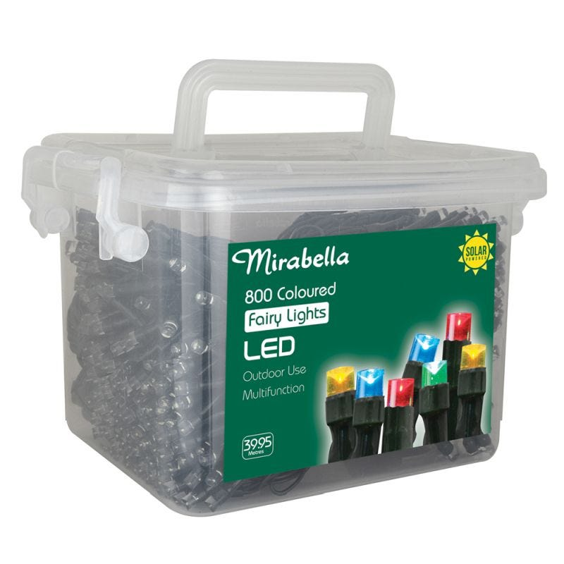 Fairy Light Led Solar Multi Colour 800Pce