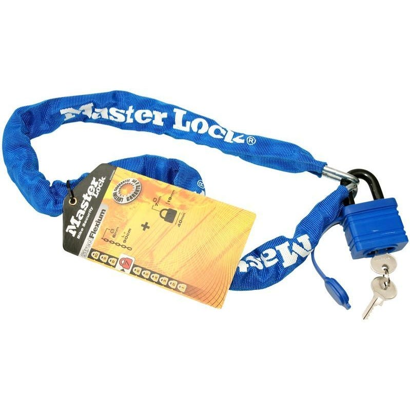Master Lock Chain Steel With Padlock 900mm Pk1