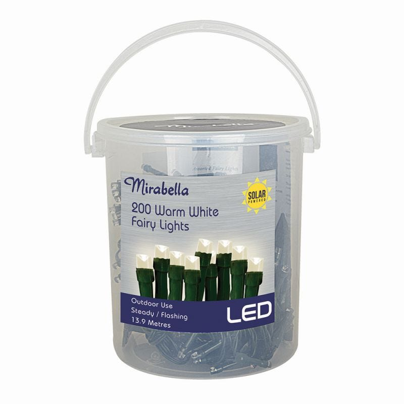 Fairy Light Led Solar Warm White 200Pce