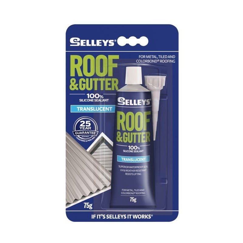 Selleys Sealant Silicone Roof & Gutter Translucent 75G