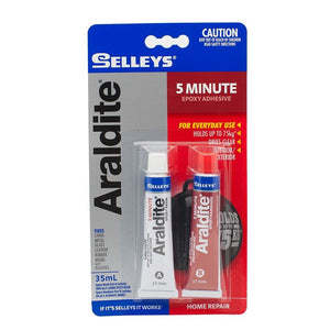 Selleys Adhesive Glue Araldite 5 Minute Tube 35ML