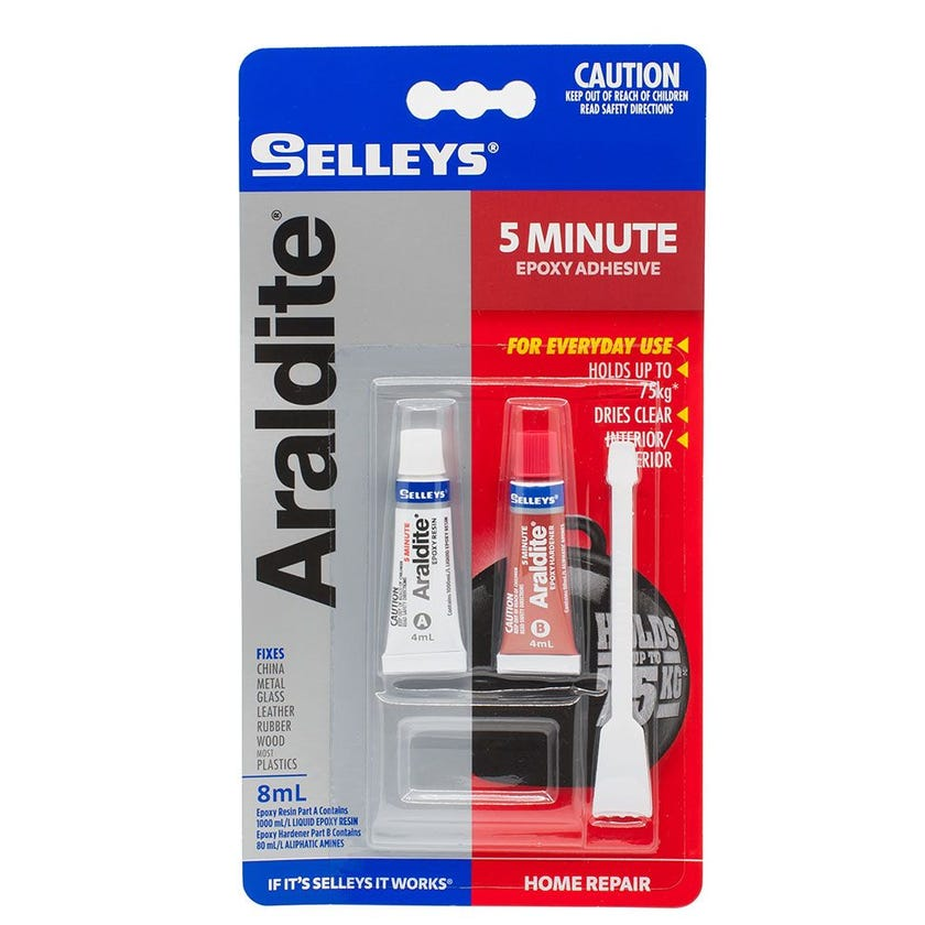 Selleys Adhesive Glue Araldite 5 Minute Tube 8ML
