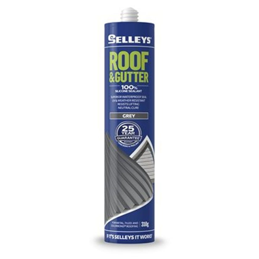 Selleys Sealant Silicone Roof & Gutter Grey 310G