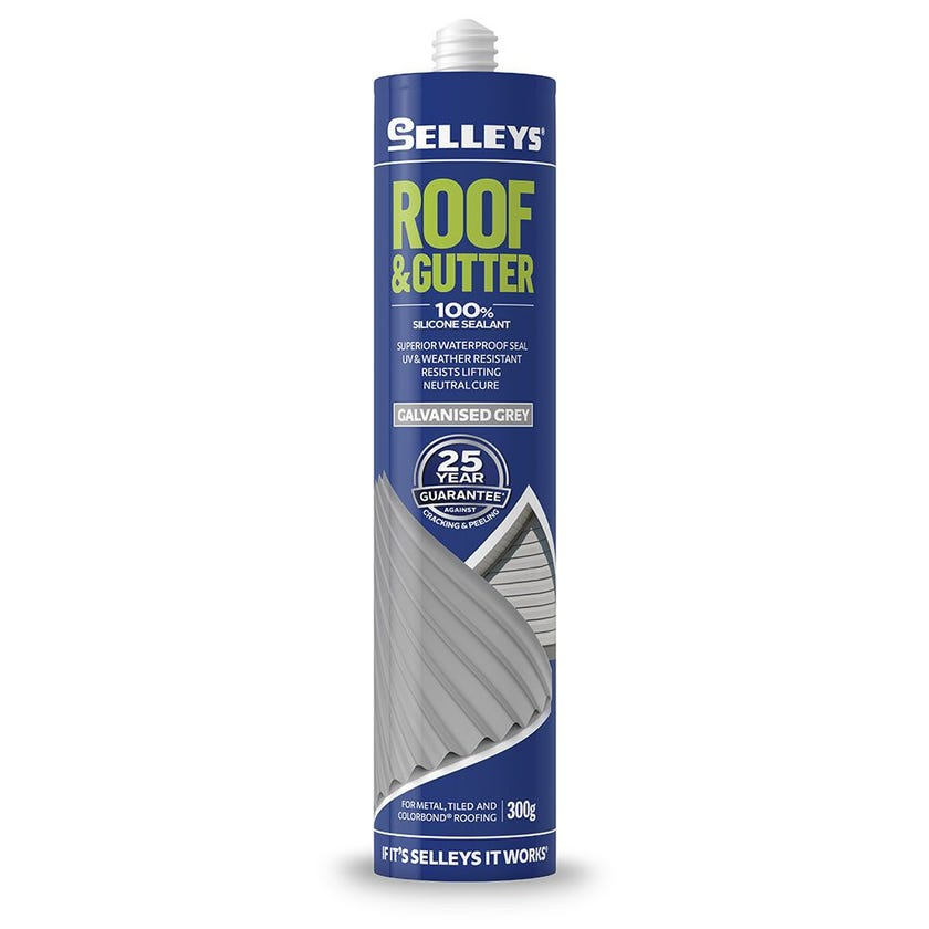 Selleys Sealant Silicone Roof & Gutter Galvanised Grey 300G