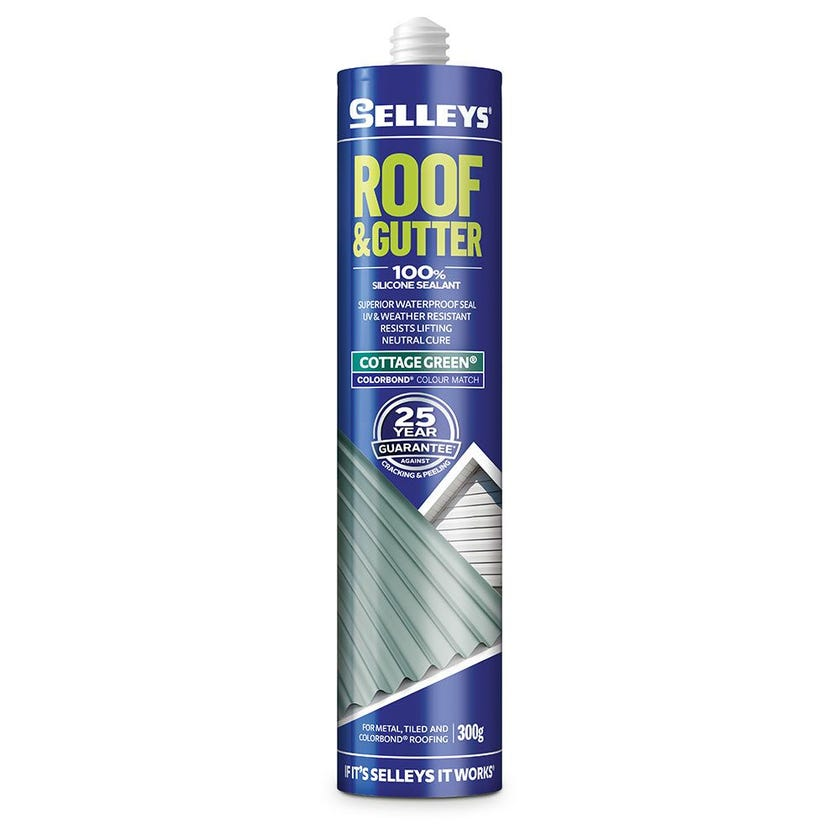 Selleys Sealant Silicone Roof & Gutter Cottage Green 300G