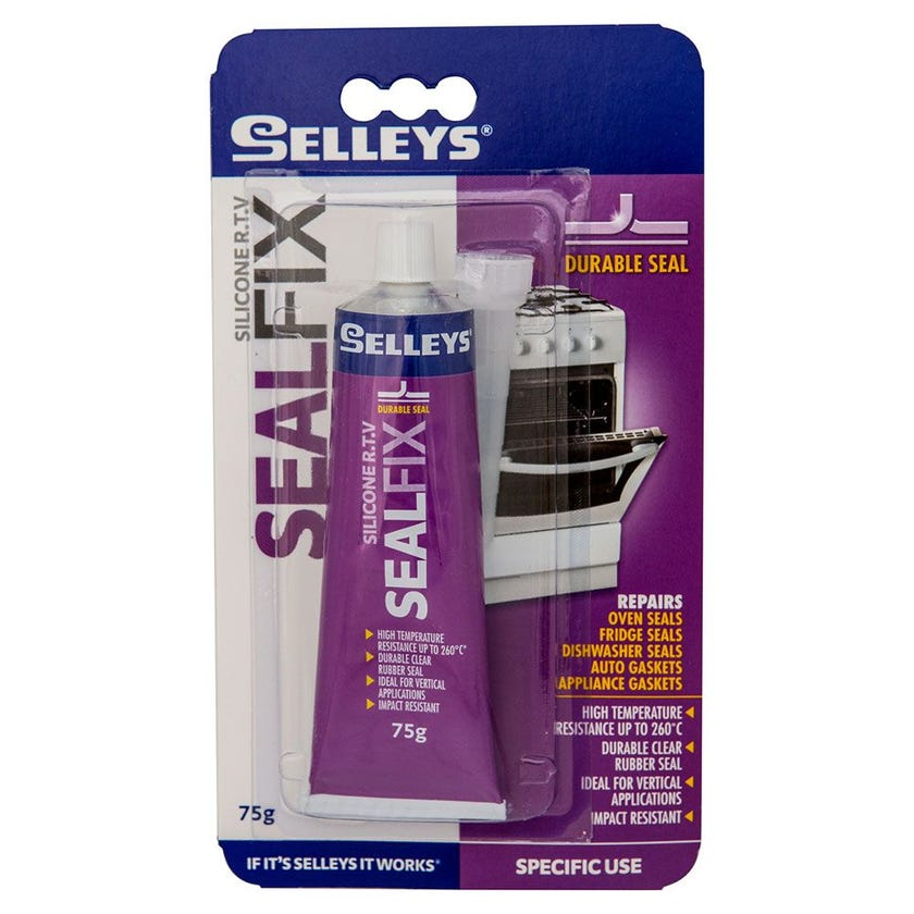 Selleys Adhesive Glue Seal Fix Rtv Clear 75G