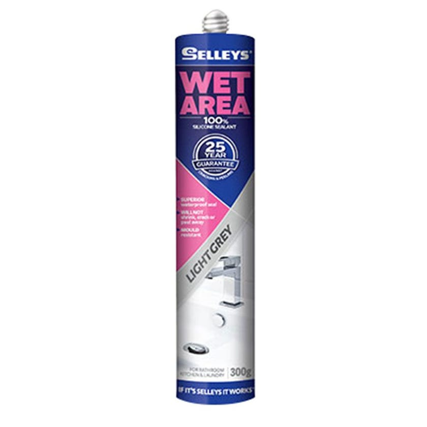 Selleys Sealant Silicone Wet Area Light Grey 300G
