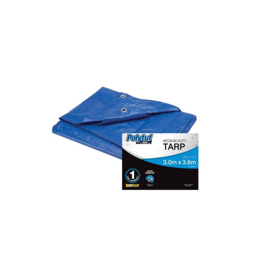 Tarp Medium Duty Super Blue 3.0m x 3.6m
