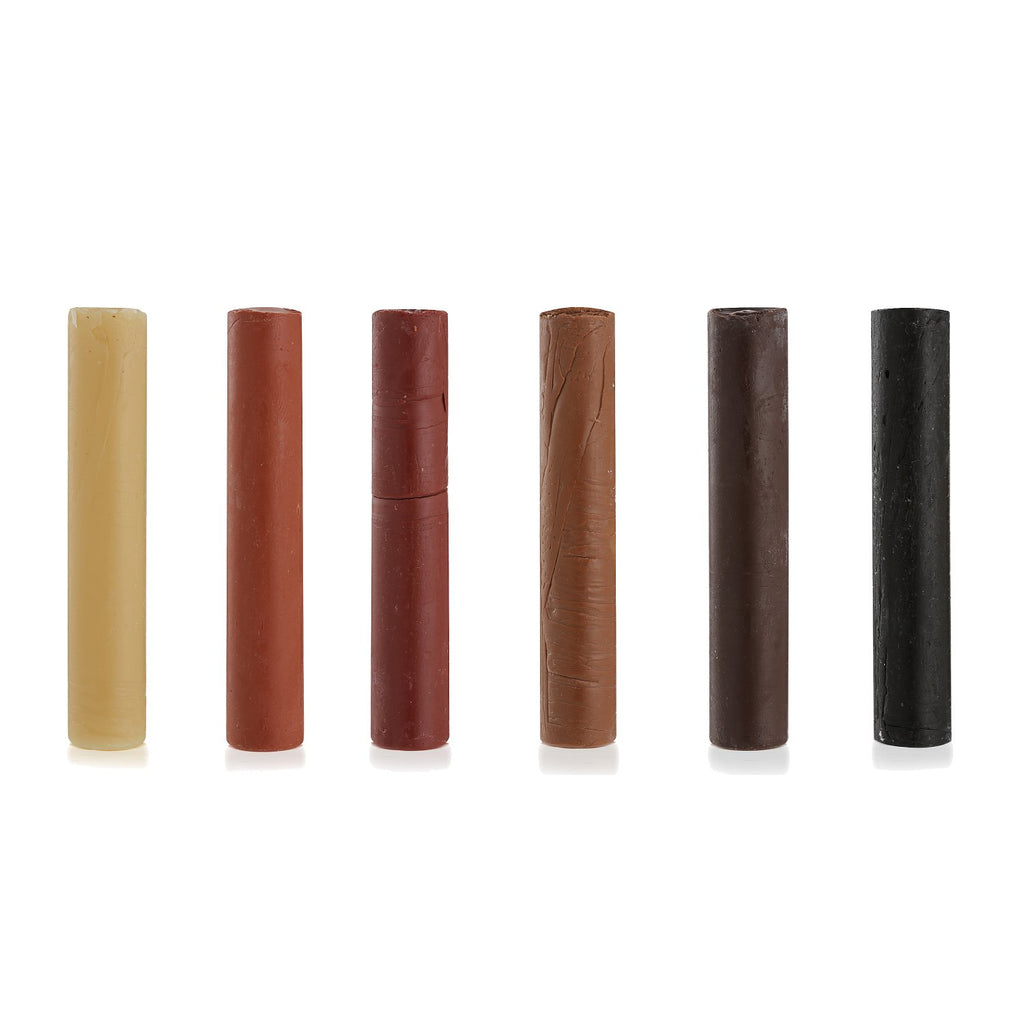 Beeswax Filler Stick Mixed Colours Pk6