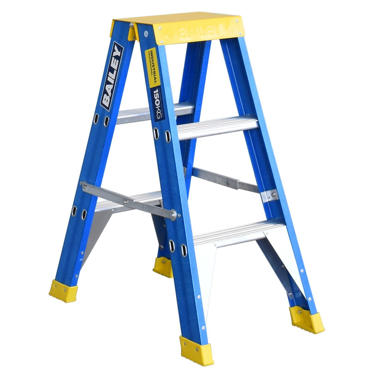 Bailey Ladder Double Sided Fibreglass 150kg 3 Step 0.9m