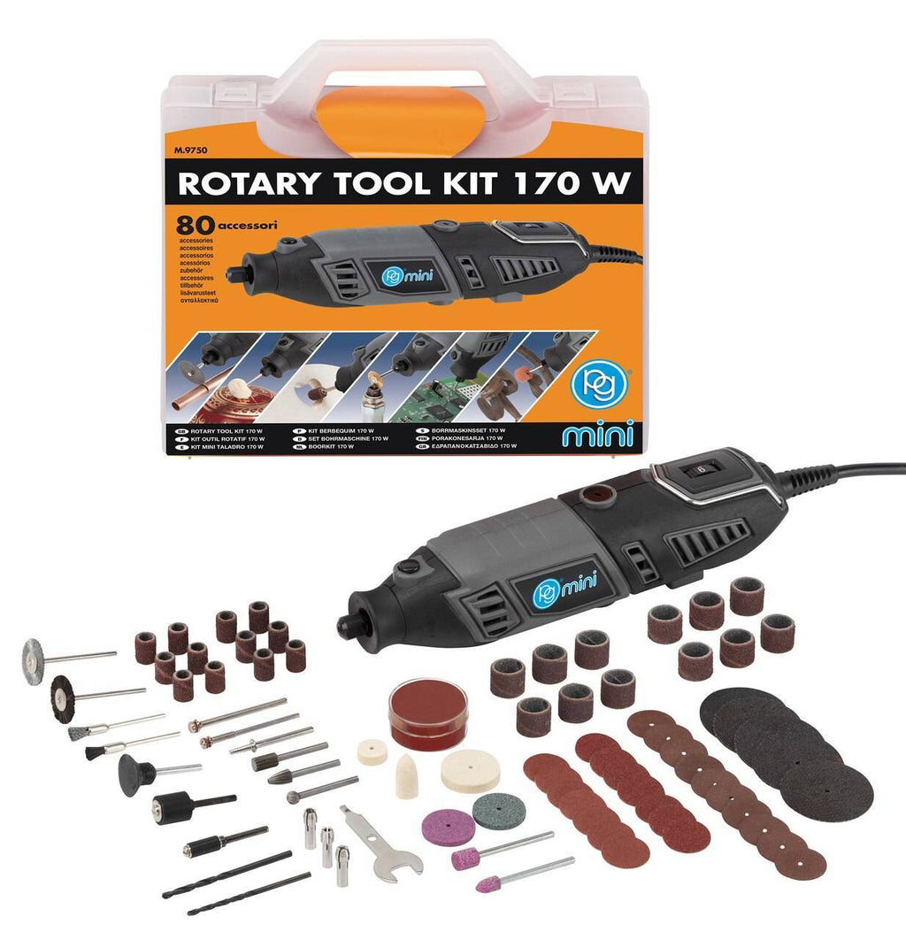 Rotary Tool Kit Mini 170W 80 Accessories
