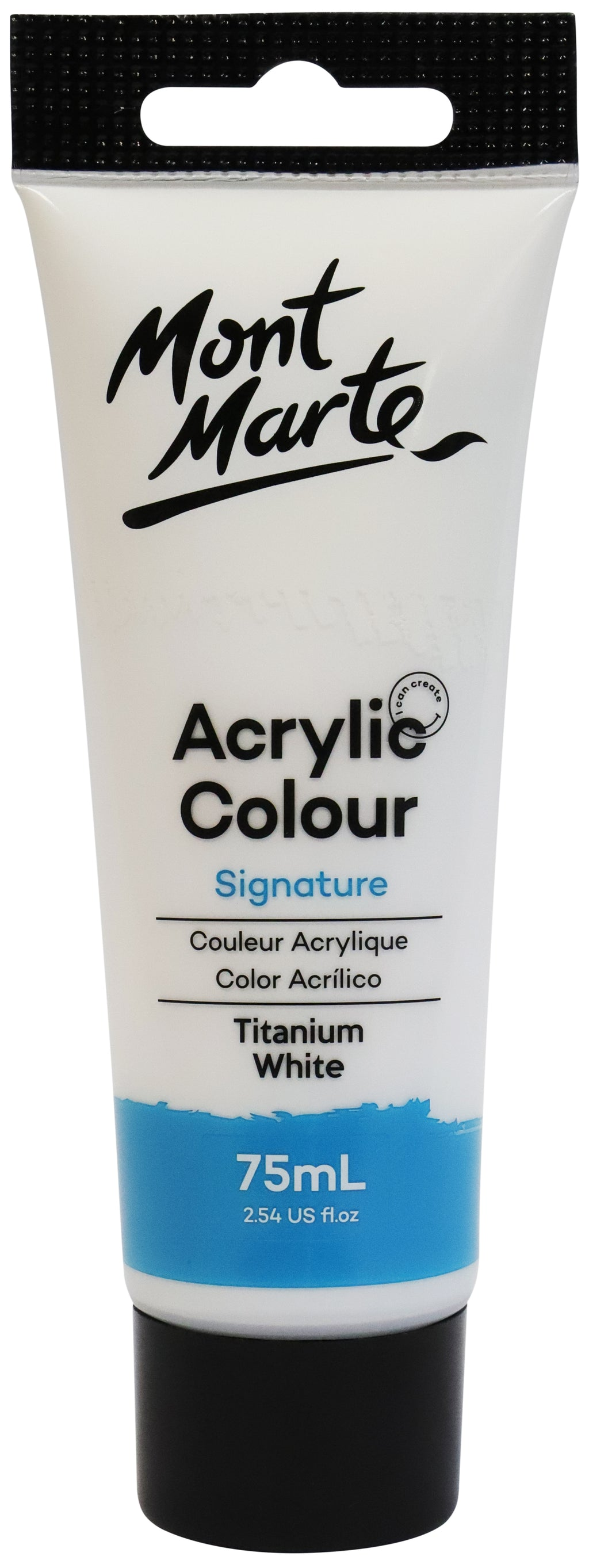 Mont Marte Acrylic Colour Paint Titanium White 75ml