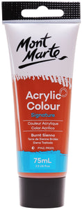 Mont Marte Acrylic Colour Paint Burnt Sie 75ml