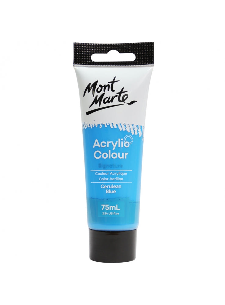Mont Marte Acrylic Colour Paint Cerulean Blue 75ml