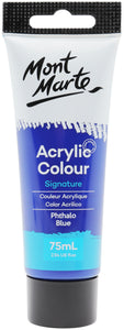 Mont Marte Acrylic Colour Paint Phthalo Blue 75ml