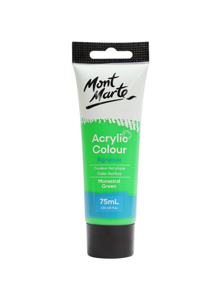 Mont Marte Acrylic Colour Paint Monastral Green 75ml