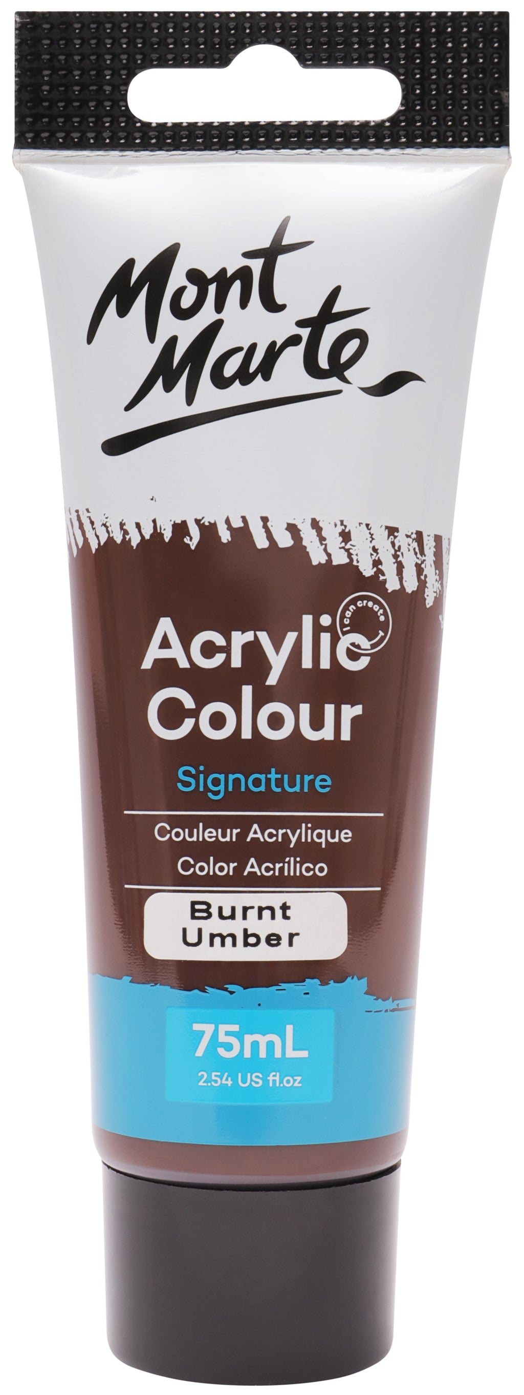 Mont Marte Acrylic Colour Paint Burnt Umber 75ml