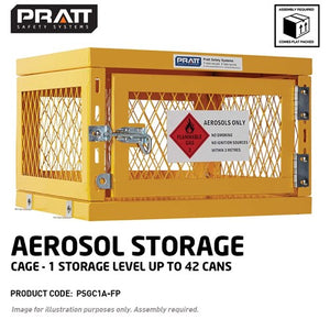 Pratt Aerosol Cage. 1 Storage Level Up To 42 Cans Flat Packed