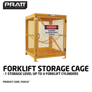 Pratt Forklift Cage 1 Storage  Level Up To 4 Forklift Cylinders.