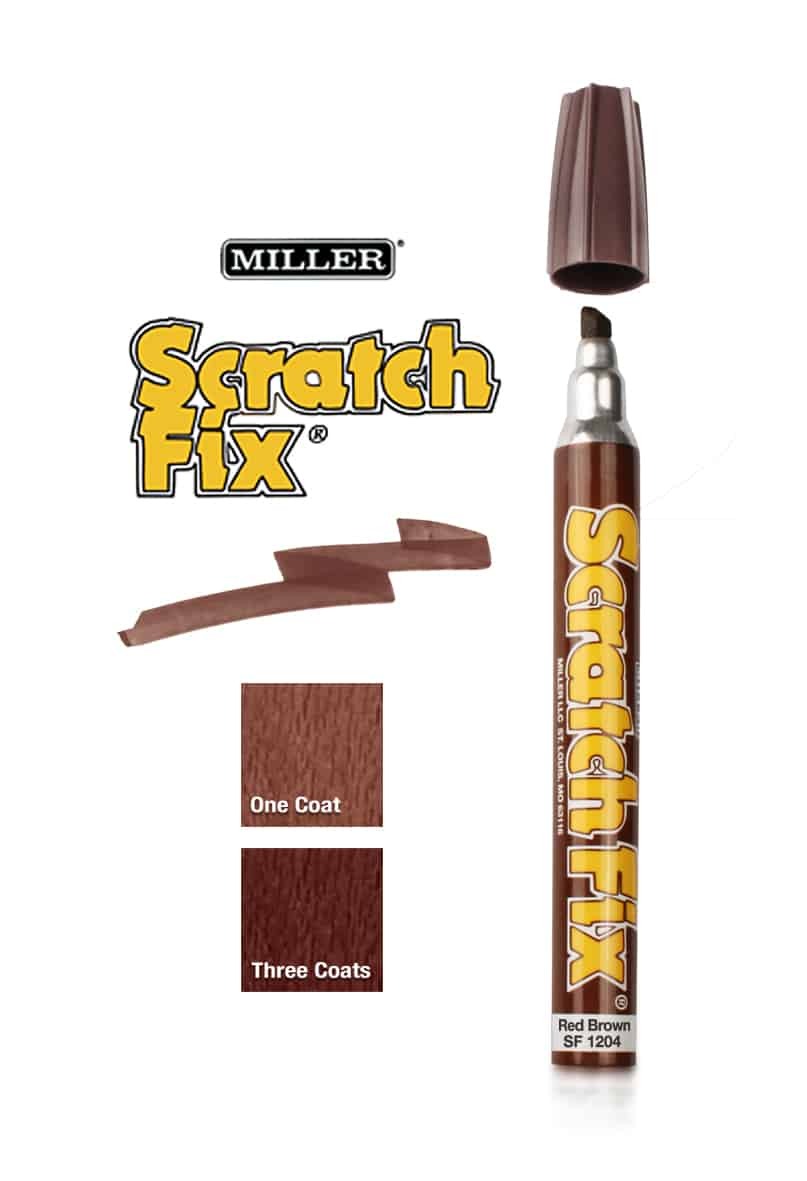 Scratch Fix Pen Red Brown