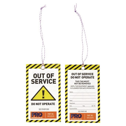 Safety Tag -125mm X 75mm Caution Pk100