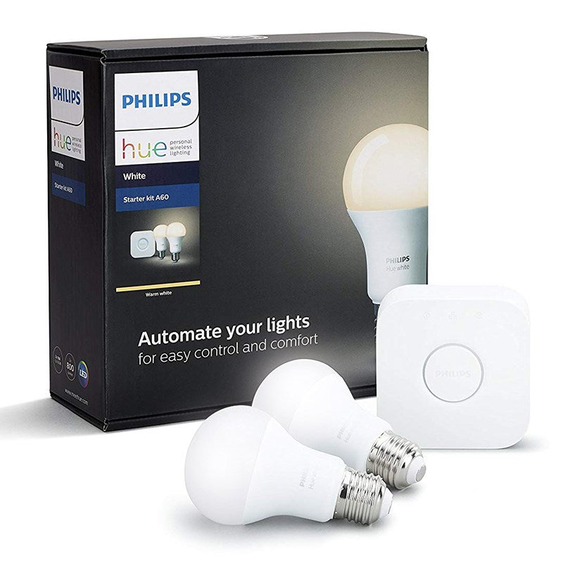 Starter Kit Philips Hue 2 X White Es Lamps With Bridge