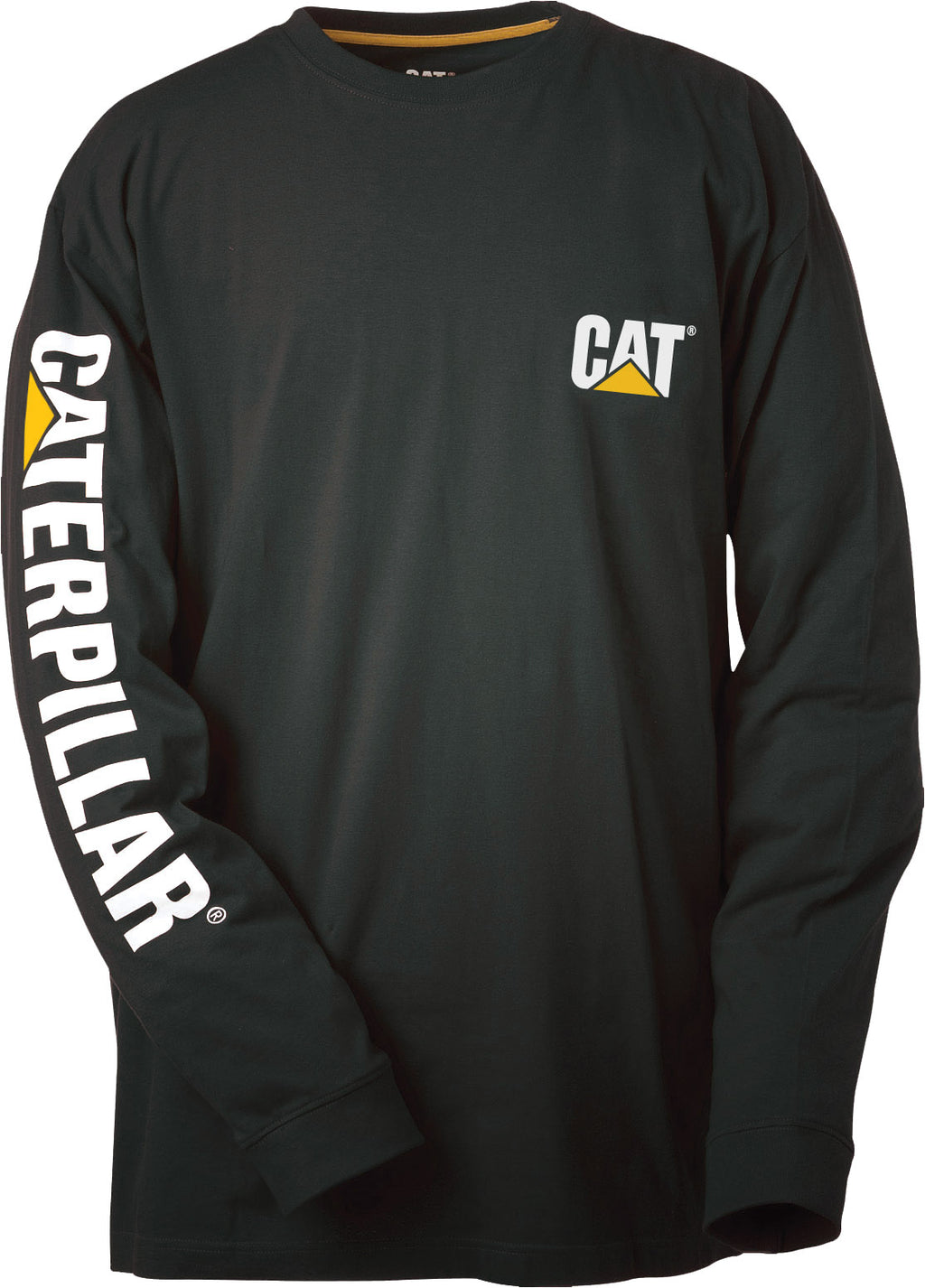 T-Shirt Cat Long Sleeve Trademark Banner Black Lge