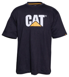T-Shirt Cat Trademark Logo Black Med