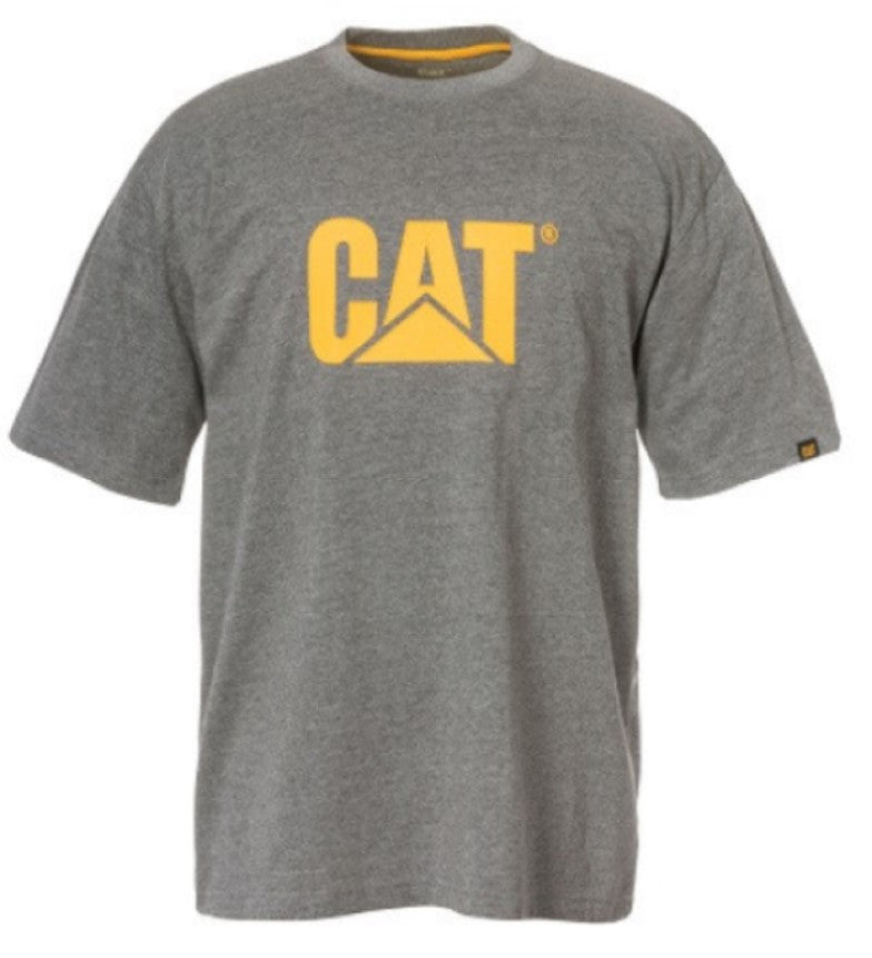 T-Shirt Cat Trademark Logo Dark Heather Grey Lge