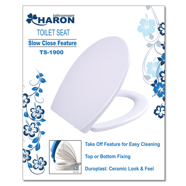 Toilet Seat Haron Soft Close Multi Fix C=75-195mm TS-1900