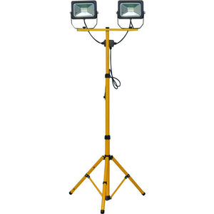 Ultracharge Worklight Led Tripod Stand 1.6M 2 X 20W Yellow