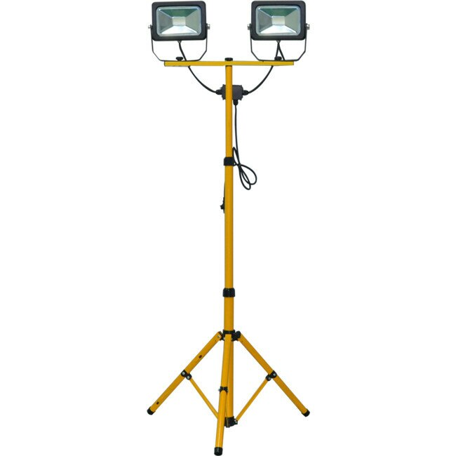 Ultracharge Worklight Led Tripod Stand 1.6M 2 X 30W Yellow