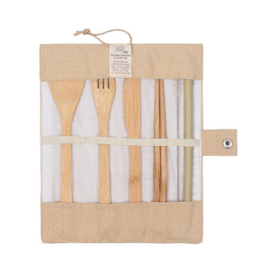 Cutlery Set Reusable Bamboo White Magic Eco Basics