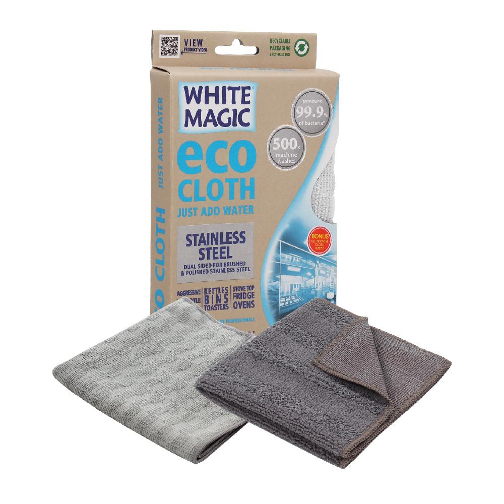 Cloth Microfibre White Magic Eco Stainless Steel
