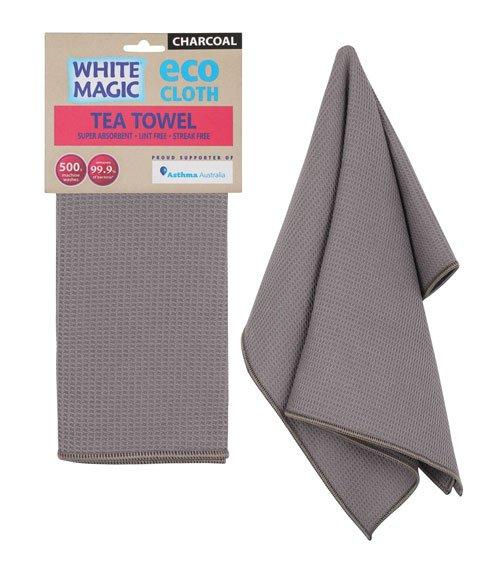 Cloth Tea Towel White Magic Eco Charcoal Pk1