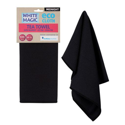 Cloth Tea Towel White Magic Eco Midnight Pk1