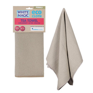 Cloth Tea Towel White Magic Eco Pebble Pk1
