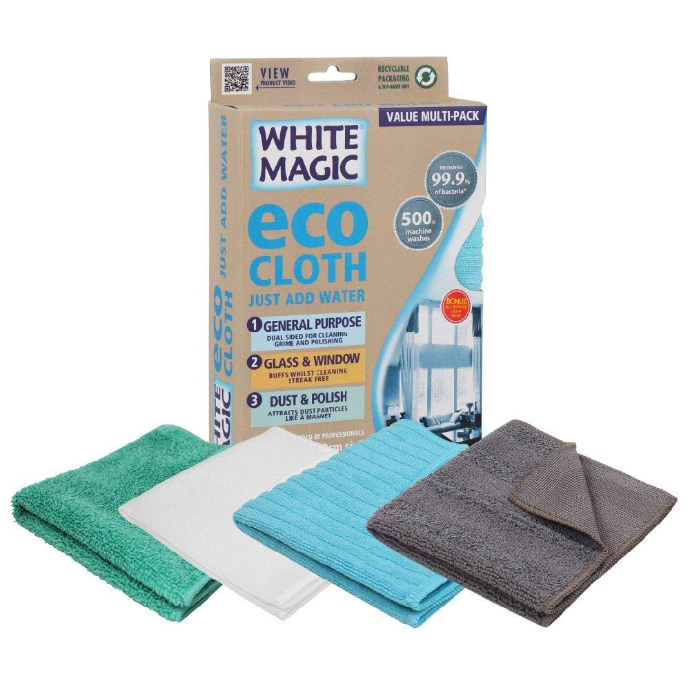 Cloth Microfibre White Magic Eco Household Value Pack