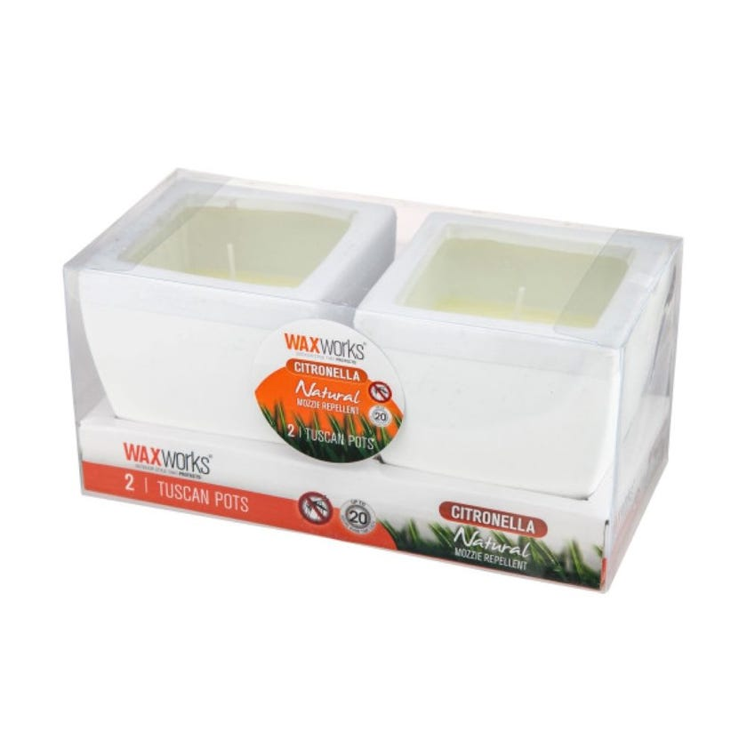 Candle Citronella Tuscan Pot Twin