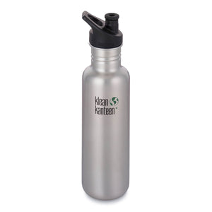 Klean Kanteen 27oz Classic Sport Cap Brushed Stainless