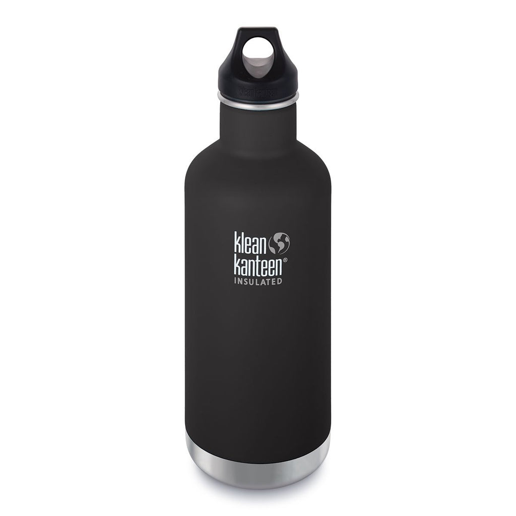 Klean Kanteen 32oz Insulated Classic Loop Shale Black