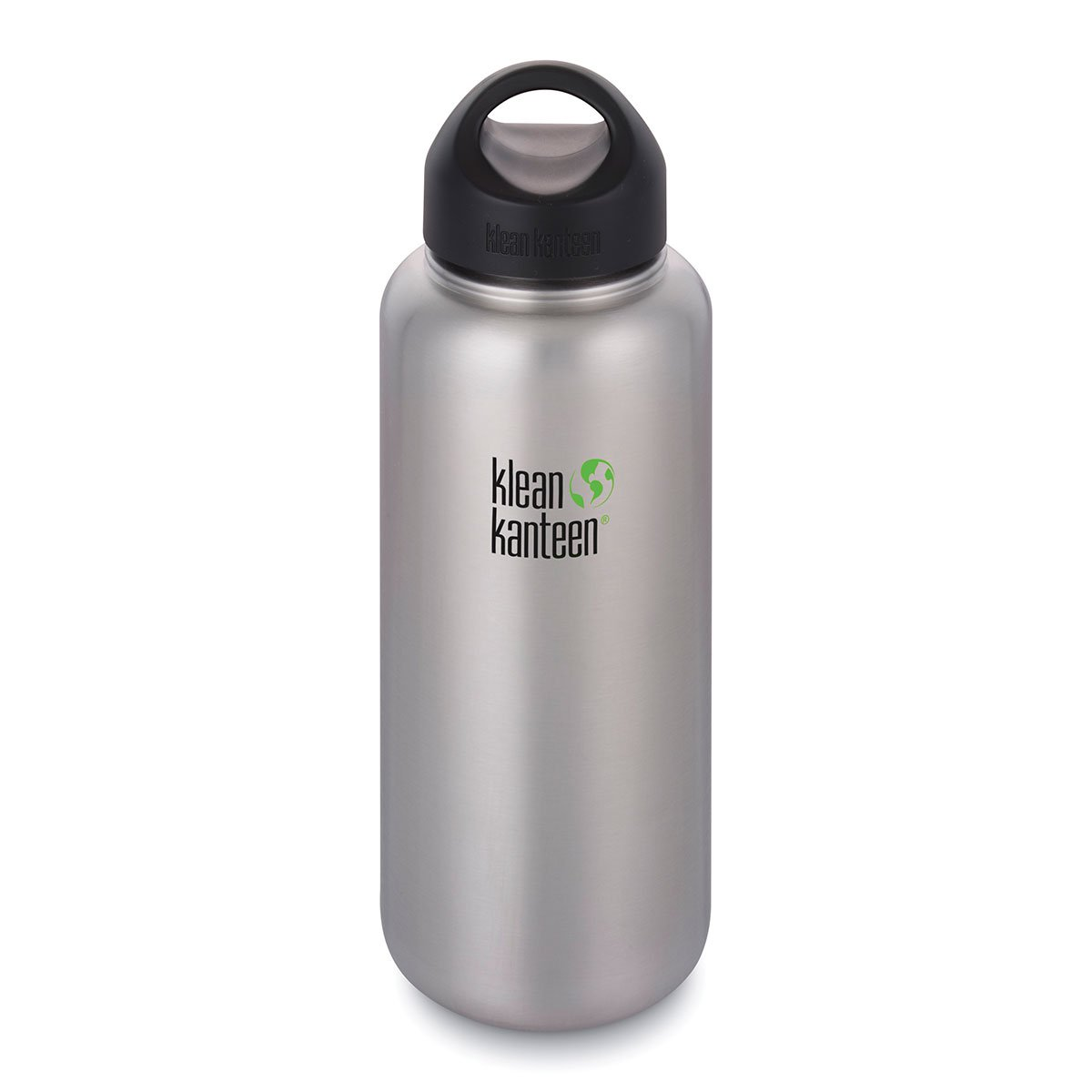 Klean Kanteen 40oz Wide Loop Cap Brushed Stainless