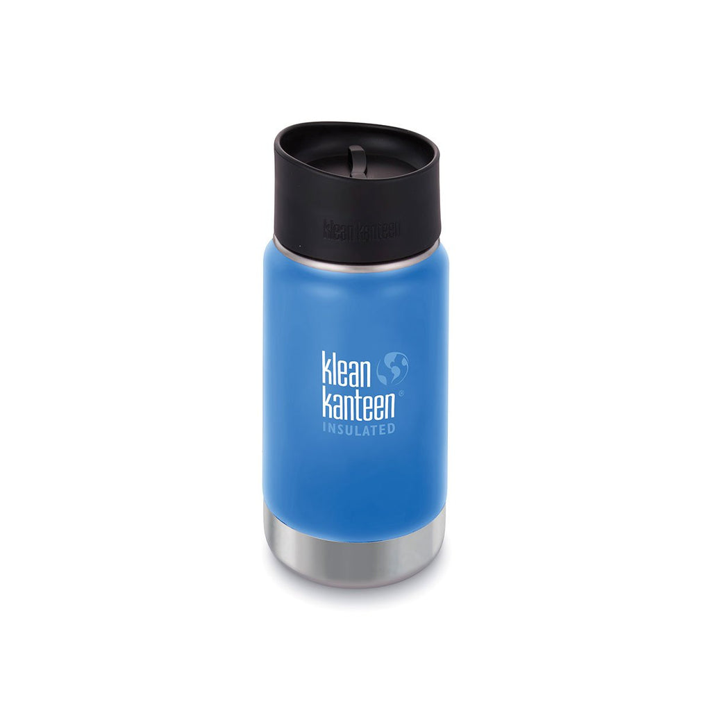 Klean Kanteen 12oz Wide Insulated Cafe Cap Pacific Sky