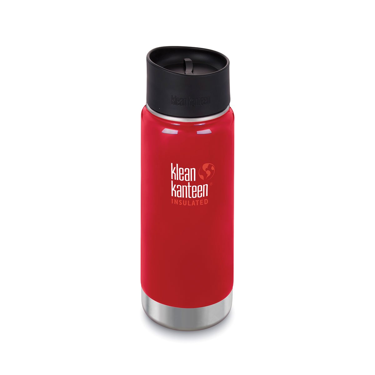 Klean Kanteen 16oz Wide Insulated Cafe Cap Mineral Red
