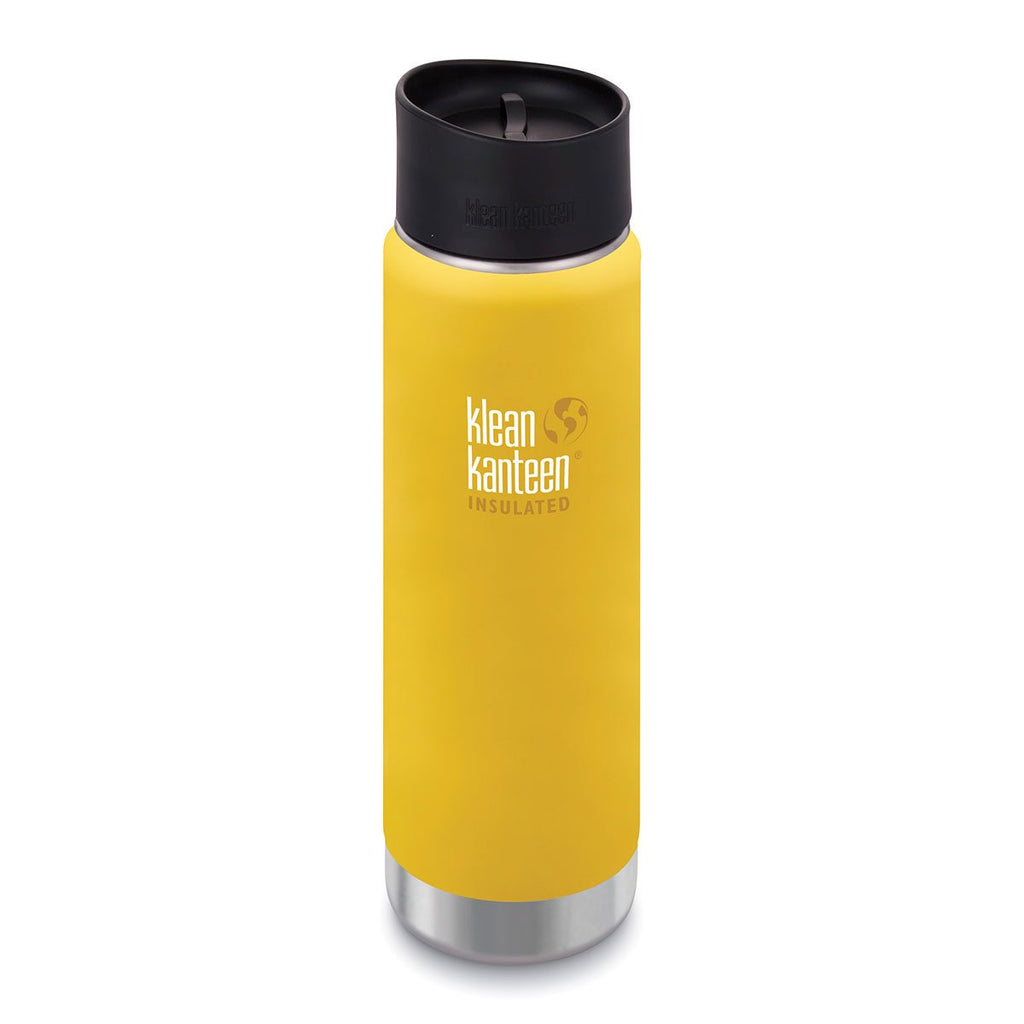 Klean Kanteen 20oz Wide Insulated Cafe Cap Lemon Curry