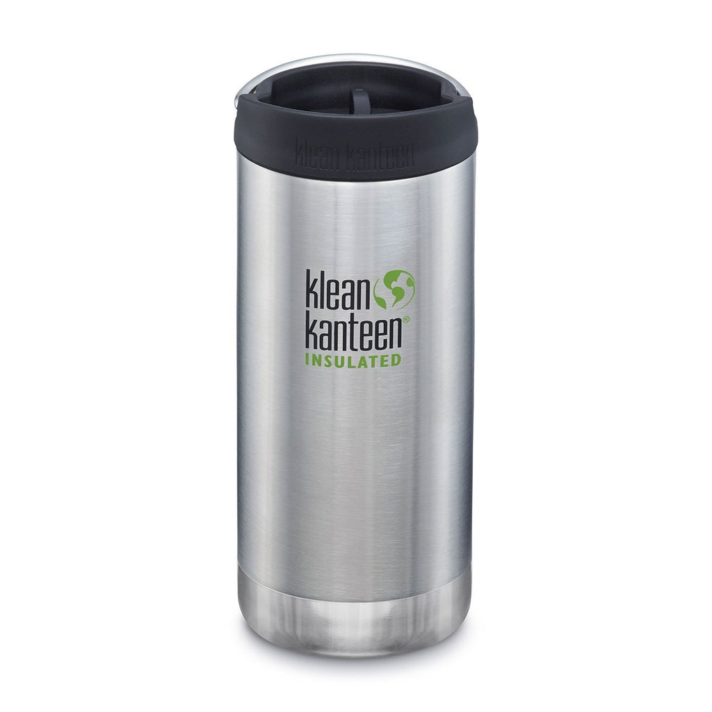 Klean Kanteen TKWide 12oz (w/Cafe Cap) Brushed Stainless