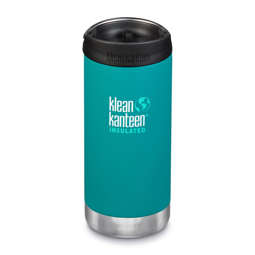 Klean Kanteen TKWide 12oz (w/Cafe Cap) Emerald Bay