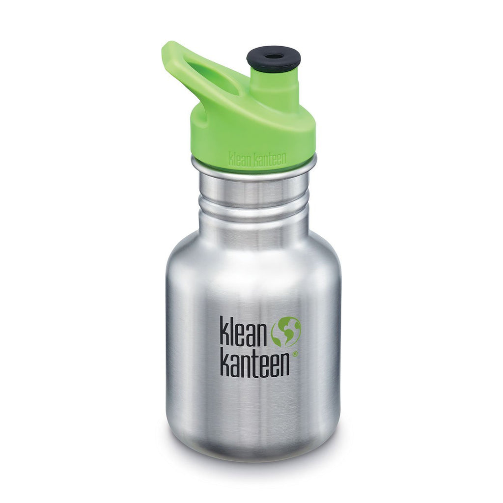 Klean Kanteen 12oz Classic Kid Sport Cap Brushed Stainless