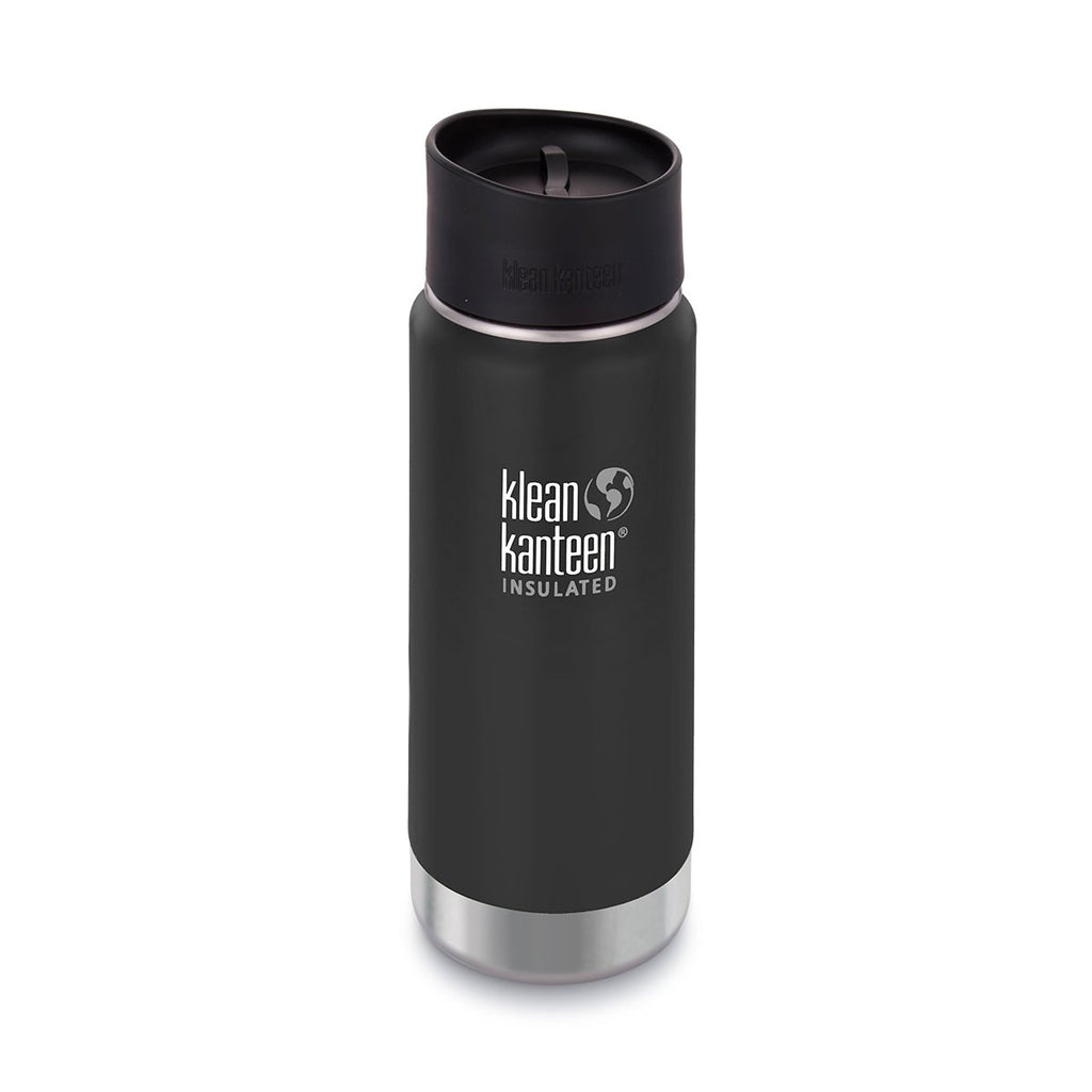 Klean Kanteen 16oz Wide Vacuum Insulated Cafe Cap / Shale Black